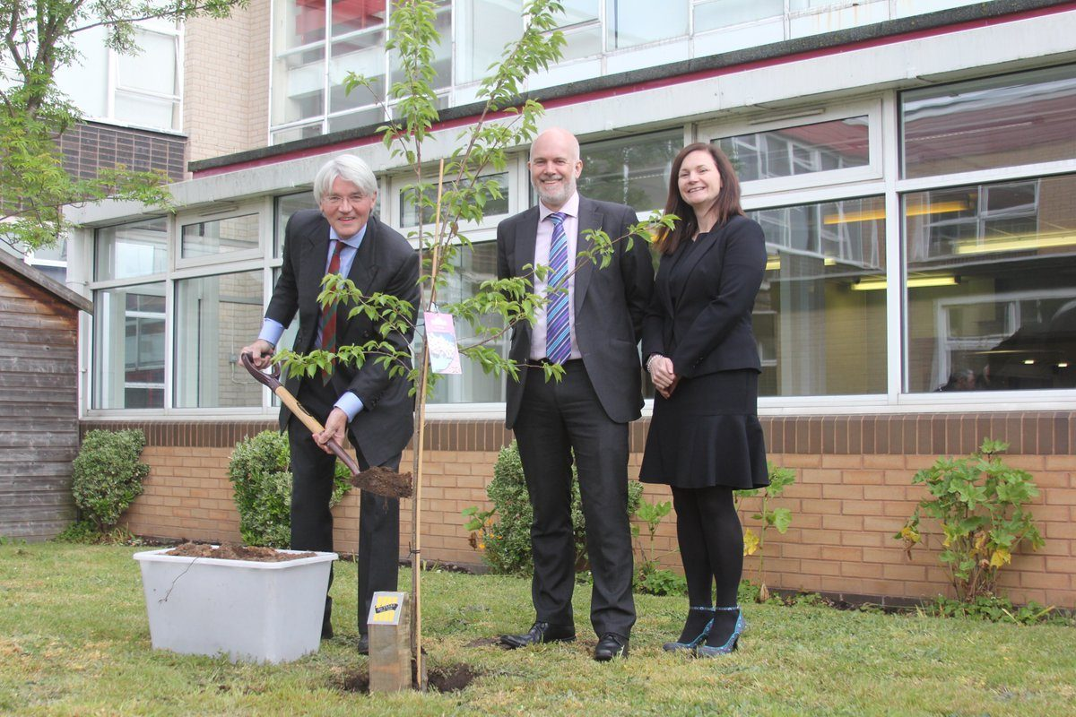 Tree planting in May