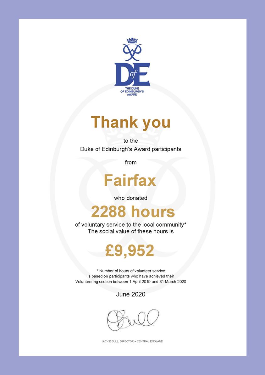 Duke of Edinburgh Voluntary Service